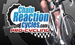 Screenshots of the Chain Reaction Cycles: Pro-Cycling for Android tablet, phone.