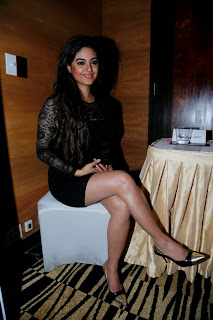 0006 Meera Chopra BOLLYM.COM Latest Spicy Picture Gallery in Black Mini Dress.jpg