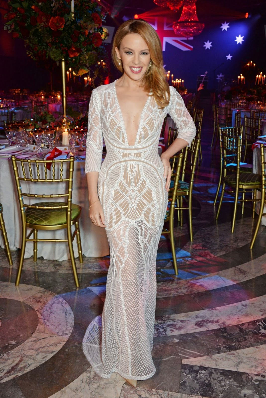 Singer Songwriter, Actress: Kylie Minogue at Australian of the Year UK Quantas Australia Day Gala in London