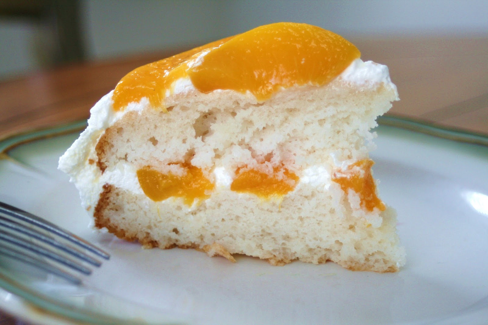 Recipe peaches and cream cake