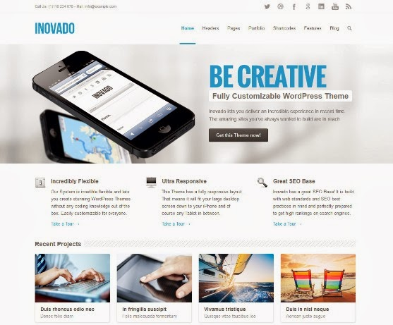 Inovado Responsive and Highly Customizable WordPress Theme