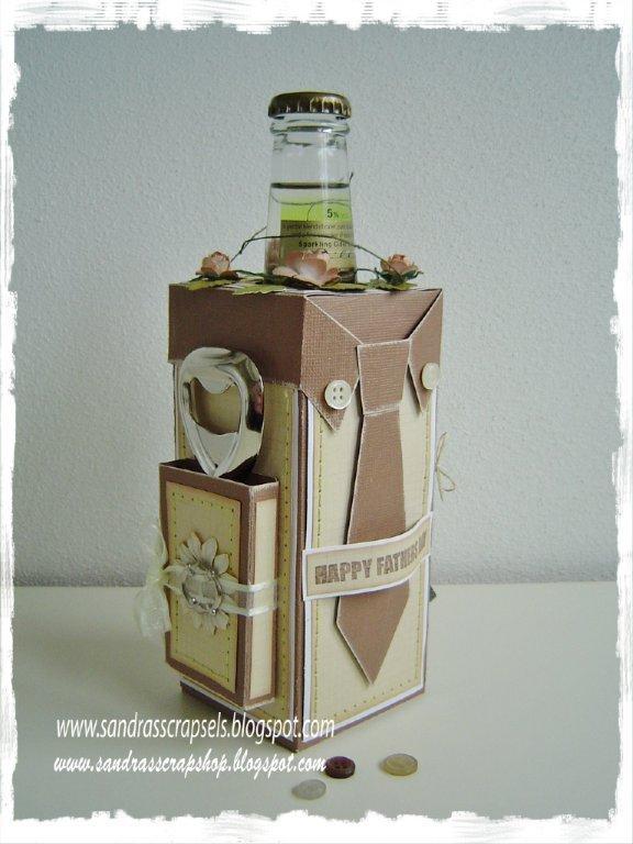 Своими руками коробка для бутылки