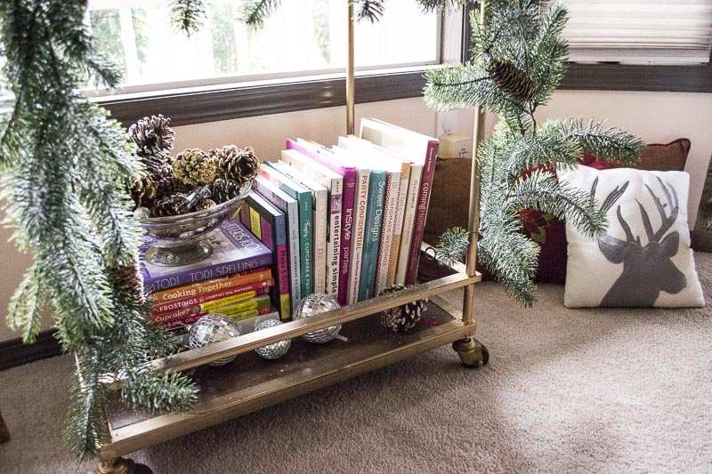How To Decorate Your Home For The Holidays With Big Lots; books as part of holiday decor