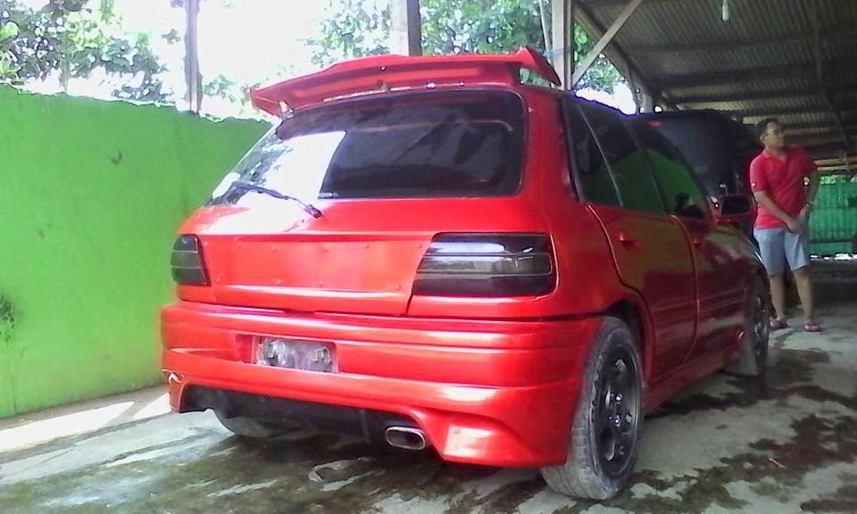 Modifikasi Bumper Mobil Toyota Starlet
