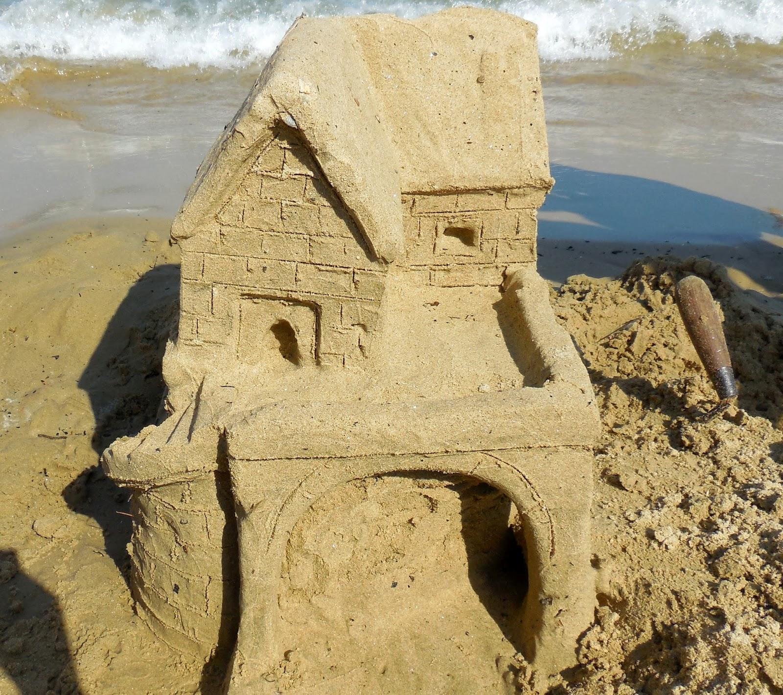 ch teaux de sable maison et sa terrasse vue sur la mer. Black Bedroom Furniture Sets. Home Design Ideas