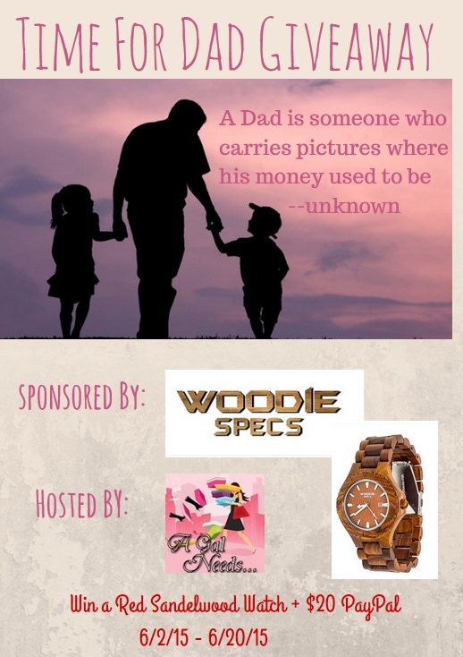Enter the Time for Dad Giveaway. Ends 6/20