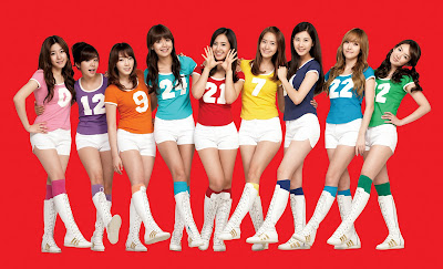 Red backgrounds asian girls generation wallpapers