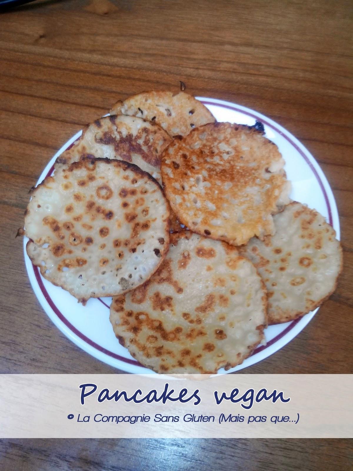 pancakes vegan sans gluten la compagnie sans gluten un blog sans gluten et sans lait. Black Bedroom Furniture Sets. Home Design Ideas