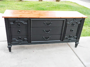 Beautiful Black Dresser  *SOLD*