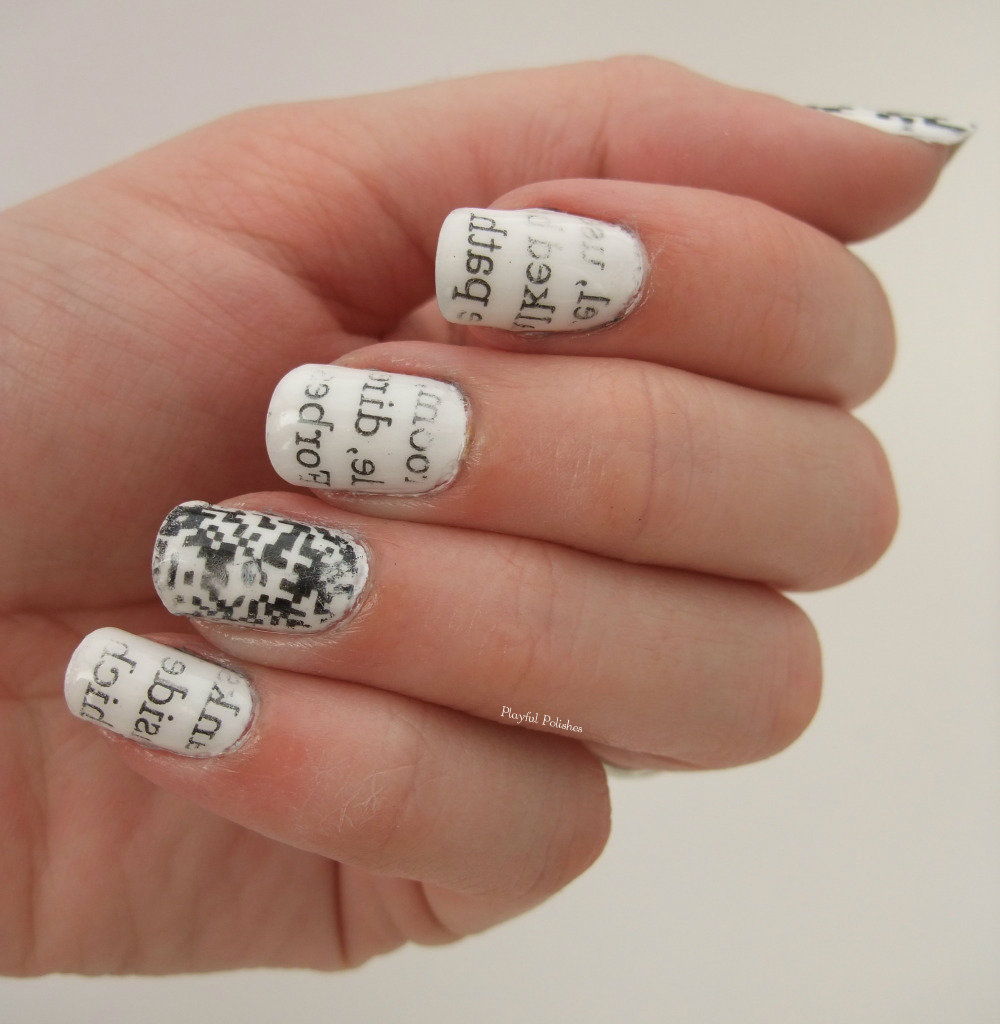 Playful Polishes: 31 DAY CHALLENGE: DAY 7, BLACK & WHITE NAILS