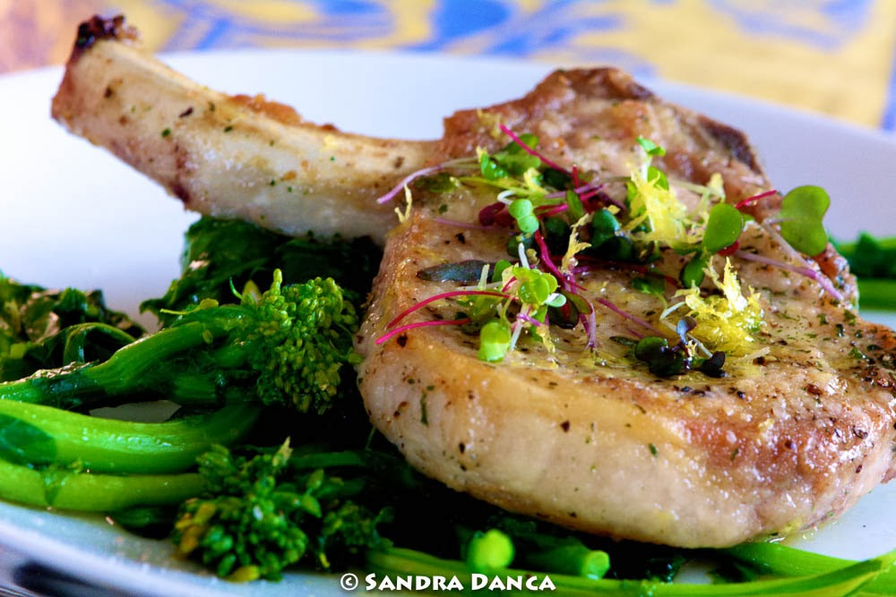 soffritto: Pan Seared Center Cut Pork Chop with lemon