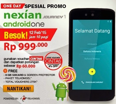 Pre Order Nexian Journey Android One