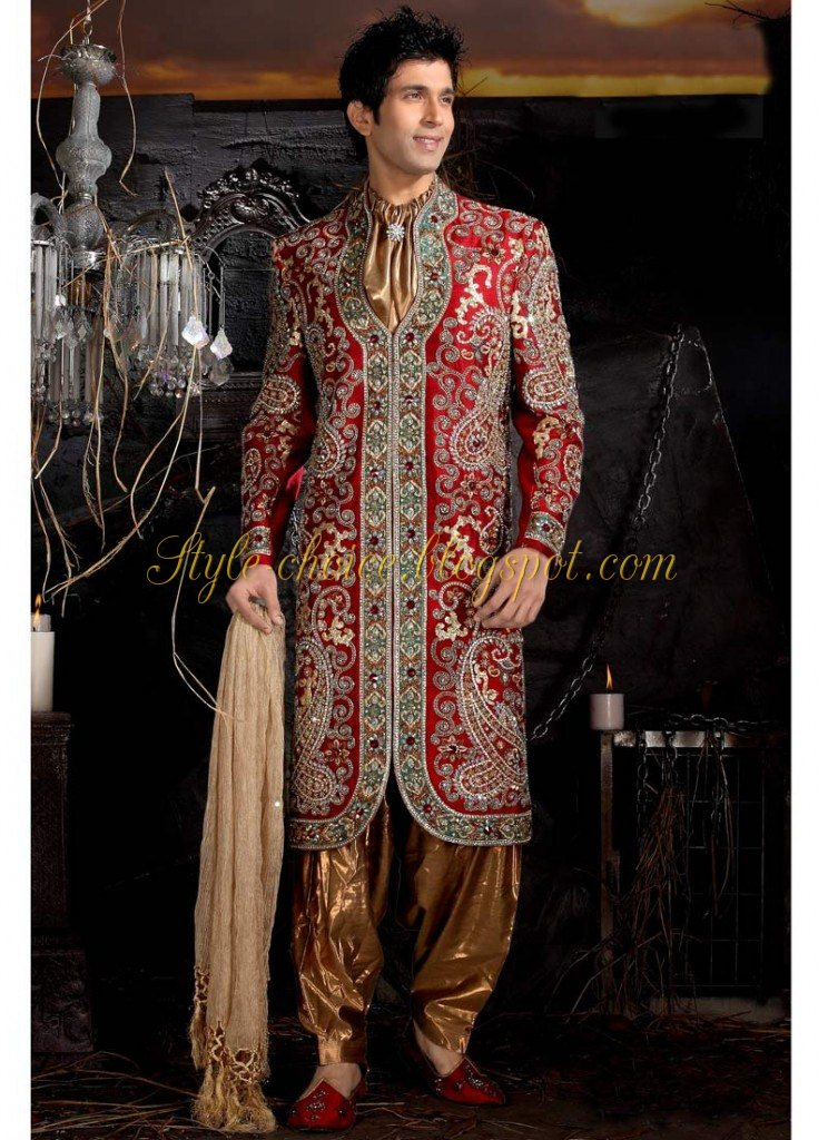 Latest Wedding Sherwani Design For Men Trend 2012 13