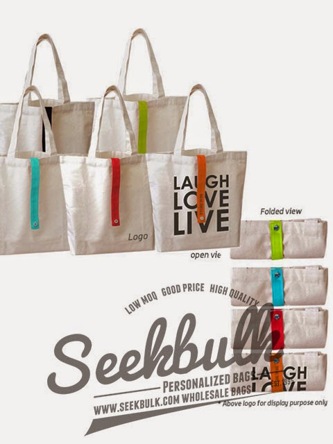 Easy to Fold canvas tote bag