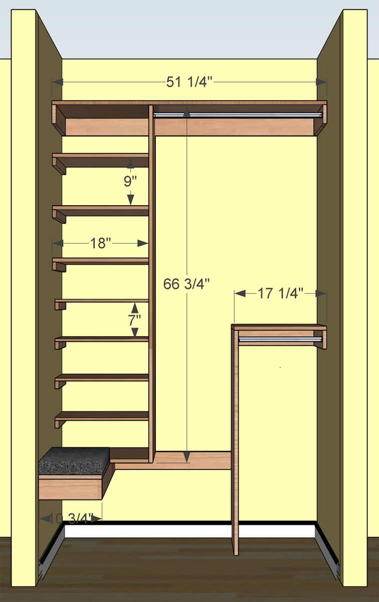 Coat closet revisited for How to design closet storage