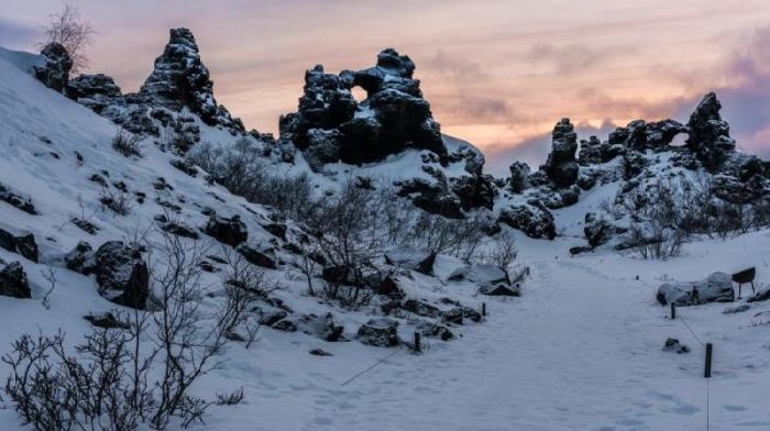 Dimmuborgir, Islandia