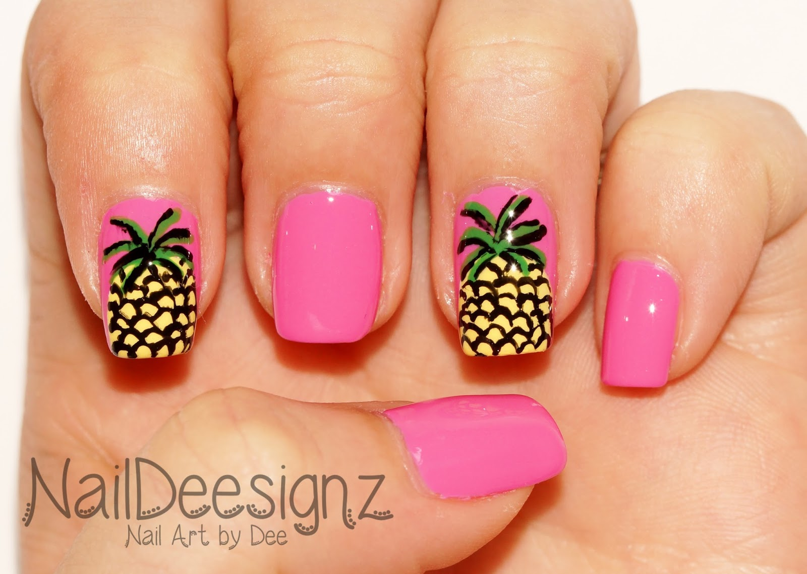 Naildeesignz pineapple nail art final design prinsesfo Image collections