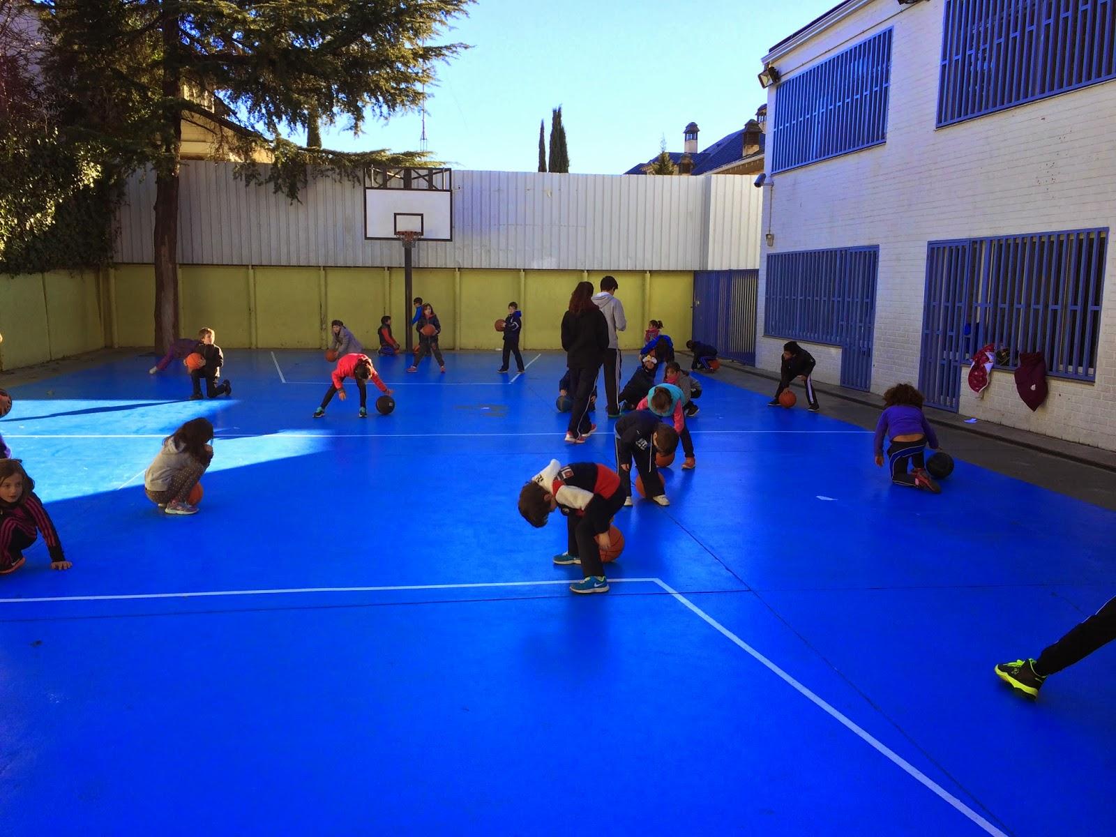 Baloncesto montessori escuela 10 01 2015 - Parque conde orgaz ...