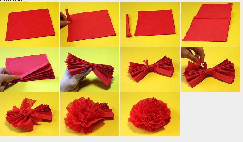 Как сделать цветок из бумаги своими руками - d76