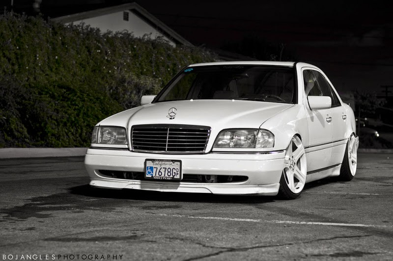 mercedes benz w202 with cls wheels benztuning. Black Bedroom Furniture Sets. Home Design Ideas