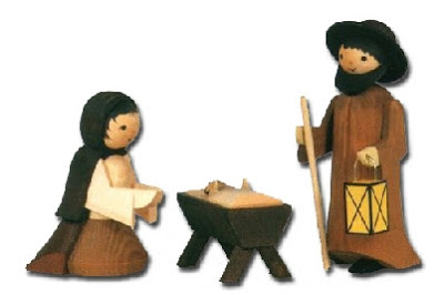 Wooden nativity figures