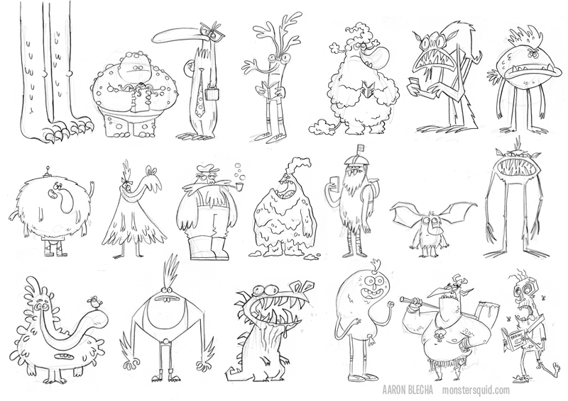 Character N Design : Cha cartoon network animation academy