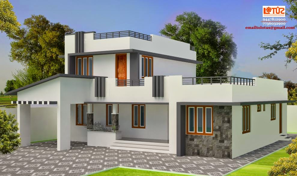 VEEDU DESIGNS: LOW COST VEEDU PHOTOS Simple Condemperory Home Design ...
