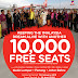 10,000 tiket percuma air asia 15 feb 2013