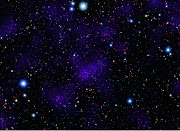 galaxy cluster (concentration of red objects in the center of the