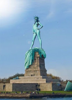 Naked Statue of Liberty