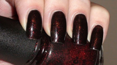 Dark Red Glitter Nail Art 432x242 - Nail Art