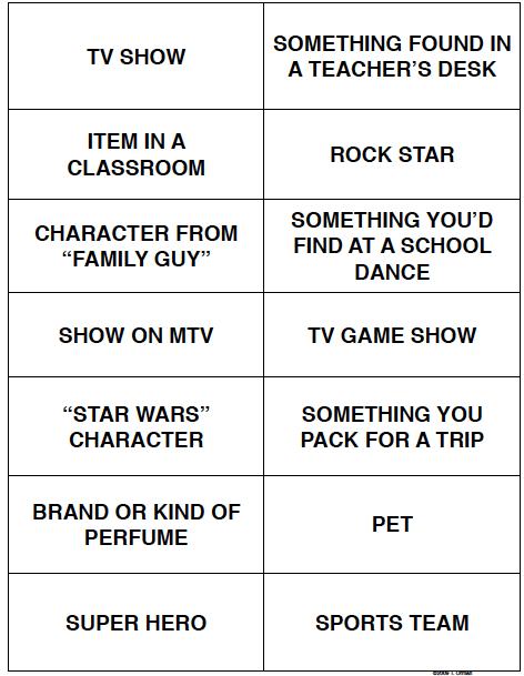 vocabulary activity:
