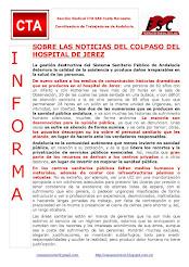 SOBRE LAS NOTICIAS DEL COLPASO DEL HOSPITAL DE JEREZ