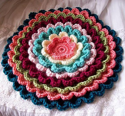 Pretty Petals Potholder - Free Pattern