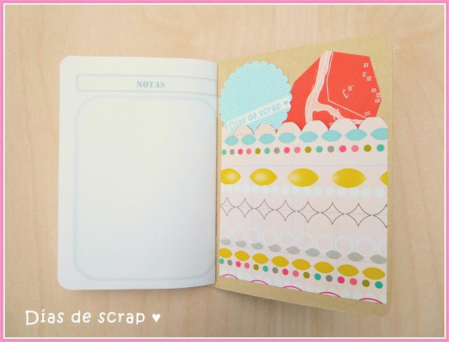 scrap cuaderno de viaje tutorial para Blogging