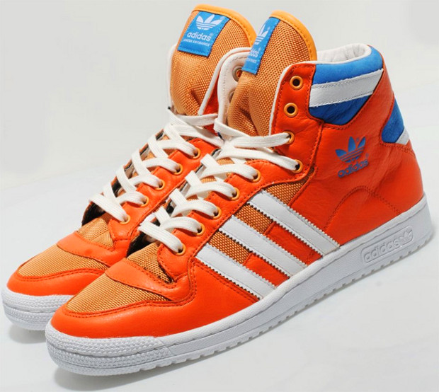 turnschuhe, alles was du willst: adidas originals dekade hohen orange - blau