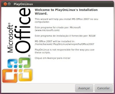 Instalando o Office 2007 no Ubuntu