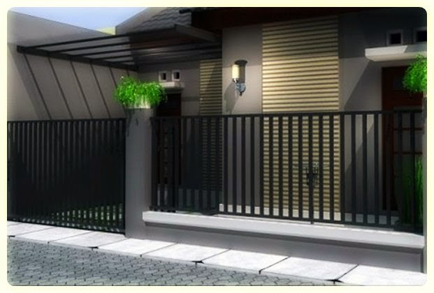 Model Desain Pagar Rumah Minimalis Type 45