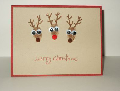 three Deer images christmas for cards