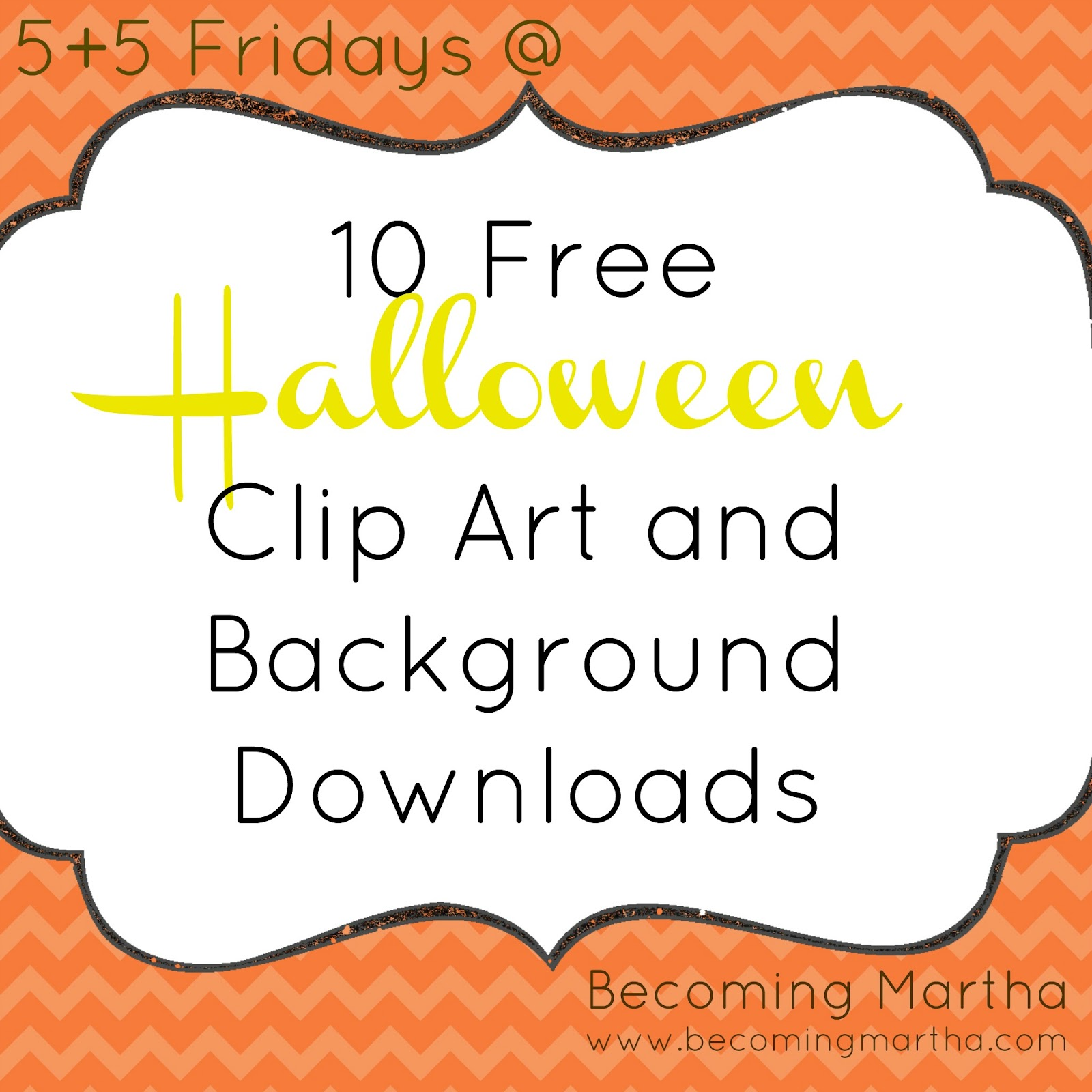 5+5 Friday} 10 Great Halloween Clip Art and Graphic Freebies ...