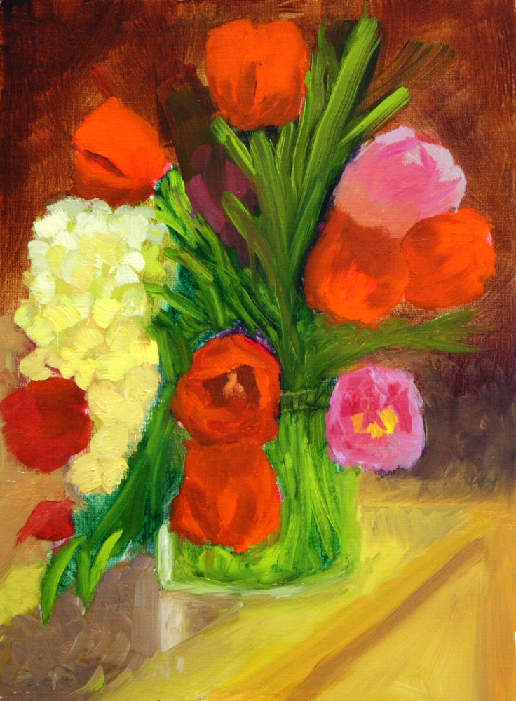 141105 - Dreama - Tulips 01a 12x9 oil on linen panel Dave Casey The Daily Painter.jpg