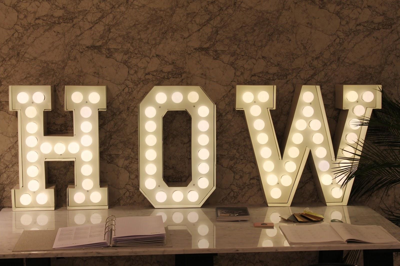 Leuchtbuchstaben How von How we live