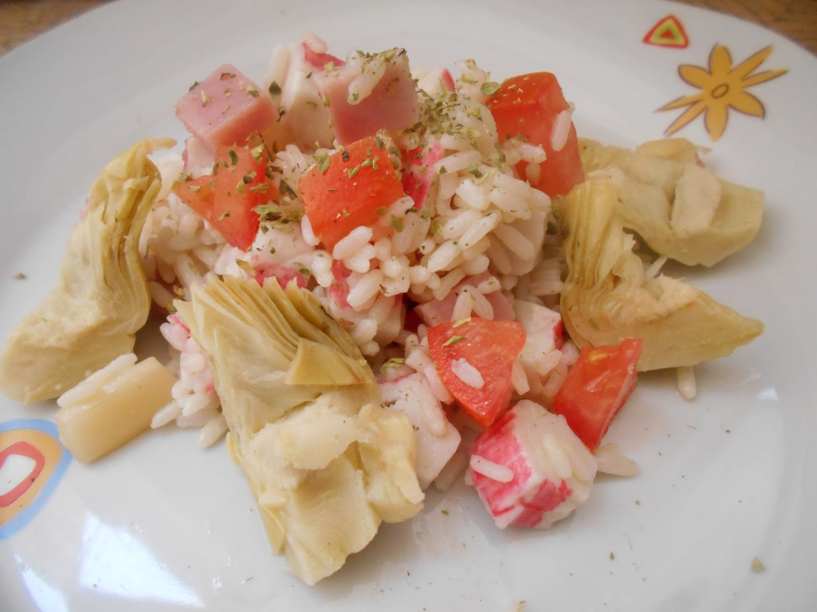 401 receta ensalada de arroz con alcachofas mayte en - Ensalada de arroz light ...