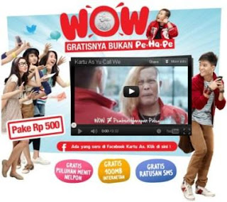 Tarif As WOW | OneStopPulsa.blogspot.com