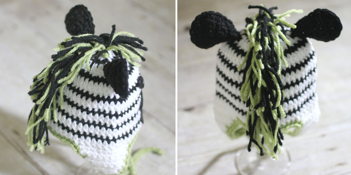 Crochet Zebra Hat Pattern Repeat Crafter Me