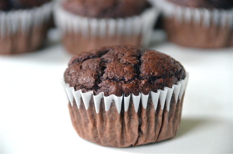 Chocolate Applesauce Muffins - ButterYum