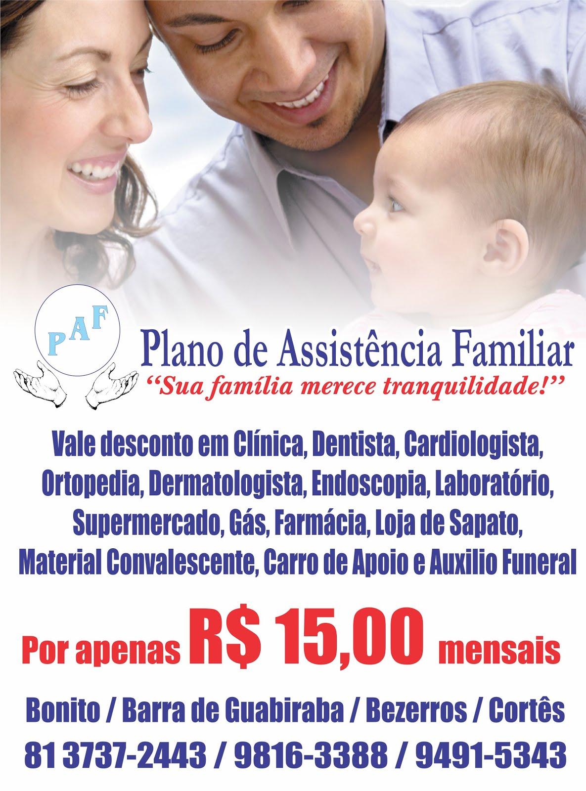 Publicidade - PAF | Plano de Assistência Familiar