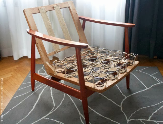 mid century modern wooden chair restoration