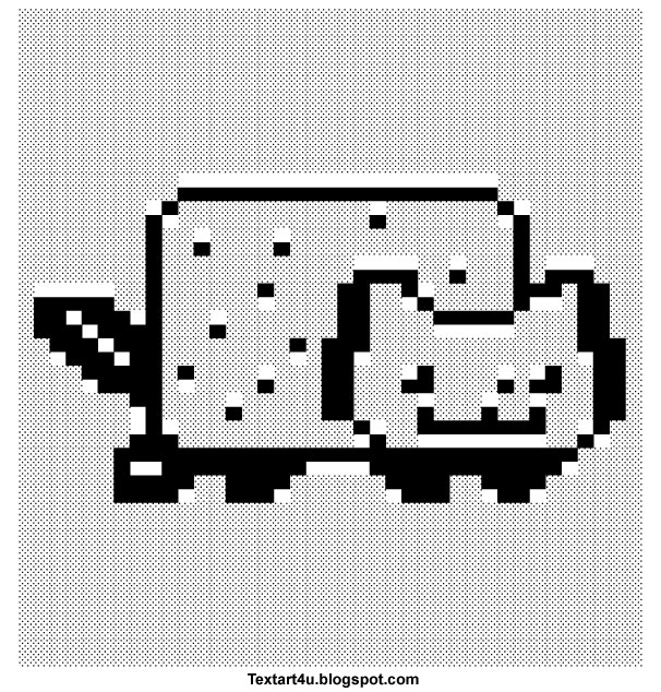 Nyan Cat Pop Tart Cat Copy Paste Text Art Cool Ascii Text Art 4 U