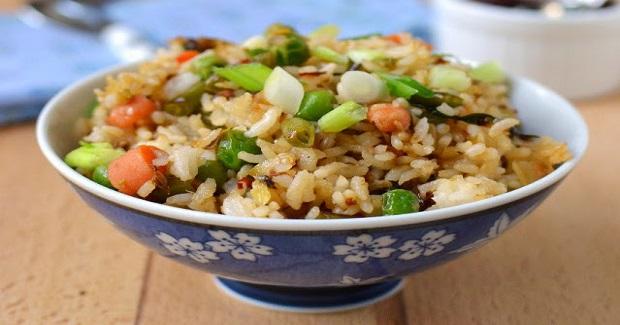Schezwan Fried Rice with Manchurian